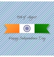 India Independence Day textile Label vector image