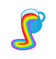 lgbt rainbow symbol icon rainbow fluid pours out vector image vector image