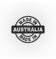 made in australia stamp on isolated background vector image vector image