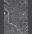 madrid city plan detailed map vector image vector image
