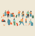 people at airport vector image