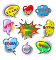 pop art speech bubbles with fashion phrases vector image vector image