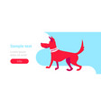 red guard security dog training center concept vector image