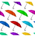 Seamless colorful umbrellas background vector image