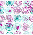 seamless pattern simple scandinavian style vector image vector image