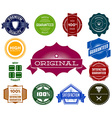 Set of colorful hipsters vintage labels vector image