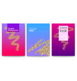 set of covers with geometric shapes and abstract vector image vector image