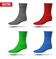 Set of different colors Realistic layout socks A vector image vector image