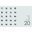 Set of files and folders icons vector image