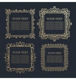 Set of Vintage calligraphic floral golden frames vector image