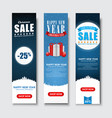set vertical banners for christmas sales vector image