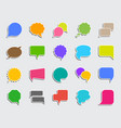 speech bubble patch sticker icons set vector image