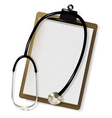 stethoscope and blank vector image vector image