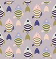 striped cartoon fish seamless pattern vector image