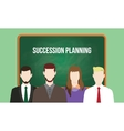 succession planning concept in a team vector image vector image