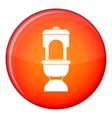 Toilet bowl icon flat style vector image vector image