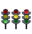 traffic light traffic light sequence red yellow vector image