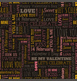 valentines day word seamless pattern vector image vector image