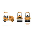 vibratory roller in realistic style vector image vector image