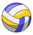 volleyball ball icon cartoon style vector image vector image