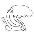 Wave icon outline style vector image vector image