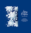 white snow card vector image vector image