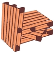Wooden pallets vector image vector image