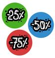 Color discount symbols vector image