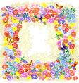 frame flower romantic vector image
