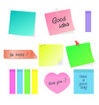 set paper sticky stickers with vector image