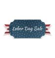 Labor Day Sale festive paper Banner vector image