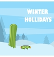 Snowboard with strap-in bindings and stomp pad vector image