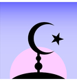 Symbol of Islam on sunset background vector image