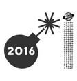 2016 petard icon with people bonus vector image