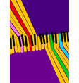 abstract music background rainbow piano keys on vector image vector image
