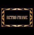 art deco frame vector image vector image