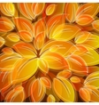 background with yellow leaves vector image