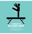 Balance Bars Gymnastics vector image vector image