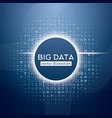 Big Data Blue Technology Background vector image vector image