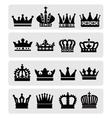 black crowns vector image vector image