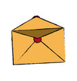 blank envelope open postal email communication vector image vector image