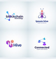 blockchain technology signs vector image vector image