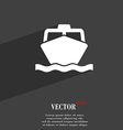 boat icon symbol Flat modern web design with long vector image