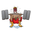 Body Builder vector image vector image