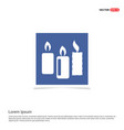 candle icon - blue photo frame vector image
