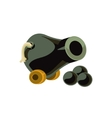 Cannon Toy Icon vector image