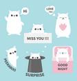 cat kitten sticker emotion emoji icon set miss vector image vector image