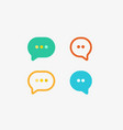chat app speech logotype type bubble vector image vector image