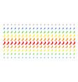 chili pepper shape halftone spectrum grid vector image vector image