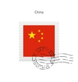China Flag Postage Stamp vector image vector image